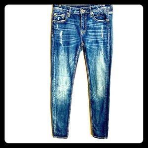 VIGOSS Women's Blue Jeans 27X31 Distressed Faded